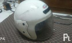 For sale Helmet white Issue is in the photo Sale