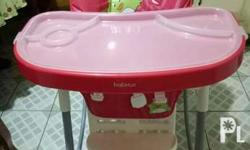 High chair for baby in excellent condition. Very rarely