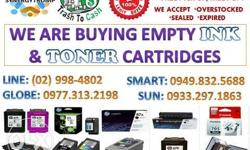 We buy Empty cartridges Ink and Toners,