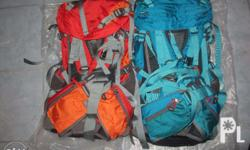 sena light weight material hiking backpack 50to55L with