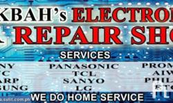 HOME SERVICE ELETRONIC TECHNICIAN WE REPAIR ANY KIND OF