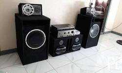 Home sound setup Comes with: 2pcs 12inches orig konzert