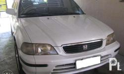Selling my Honda city, model 98. Registered up to this