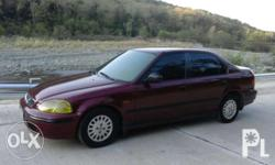 Honda civic 98' All power All stock Manual trans. Cold