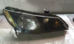 Honda FD Civic 2007 headlight pair. Painted black
