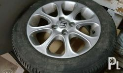OEM Honda civic/City Mags and tires 90 percent thread