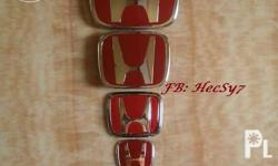Blue, Red H Honda Emblem (Brand New) for Old Honda