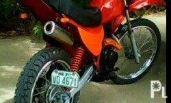 for sale or swap: HONDA XL 125 ENDURO (RED) P