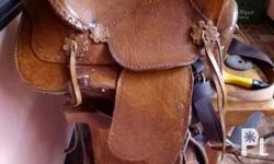 Brandnew leather horse saddle Locally made Complete