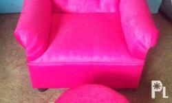 Brand New Hot Pink Kiddie Princess Chair with Leg Rest