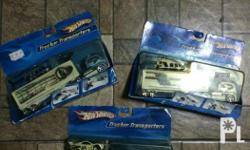 hot wheels collection 3 pcs truckin transporter lot