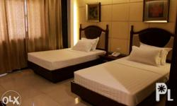 hotel rooms is available in single bed, twin bed and