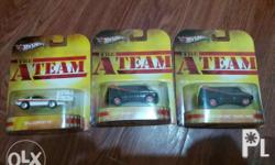 Hotwheels a team set of 3