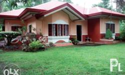 Semi furnished house, along the road,green environment