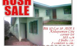 HOUSE AND LOT ..RUSH SALE..OPEN FOR AGENT.. ? Kidapawan