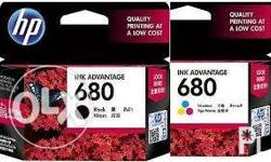 New HP 680 Black and Colored Ink Cartridge (unpacked &