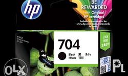 HP 704 Black Original Ink Advantage Cartridge(CN692AA)