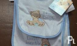 Love Daddy Blue Set of Bib and Wash Cloth new bought in