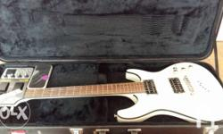 Ibanez SZ320EX guitar with MG 100 NUX effect and Gator