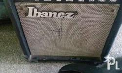 Ibanez with ibanez amp with overdrive.. and cassing