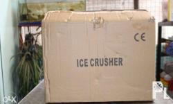 Heavy Duty Ice Crusher is intended for Shake, Halo-halo