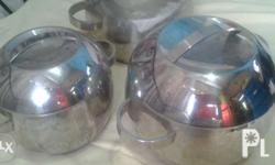 Stainless steel pots and pan The 2 pots been used and