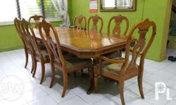 Imported Adjustable 8 seater dining set in cherry oak