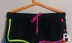Authentic and Imported Beach Shorts > BLACK ON NEON