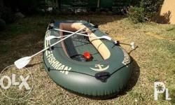 4 person inflatable boat with fishing rod holders and