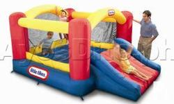 Deskripsiyon USED 2 TIMES CHILDS WORLD INFLATABLE JUMP