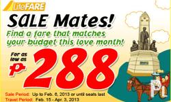 Intelway Ticketing Service Sale mates promo fares @Php