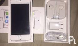 Iphone 5s 16gb silver smartlocked brandnew with one