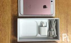 iPhone SE 64g rosegold with original cable and adapter;