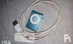Ipod Shuffle Package includes unit and cord Accepts