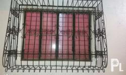 Iron window grills, 2pcs. Available. For faster