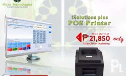 Point of Sale (POS) System with Brand new POS Printer.