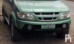 isuzu sportivo 2006mdl color mint green loaded