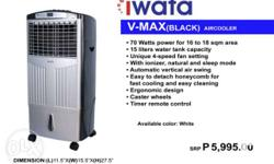 IWATA EVAPORATIVE AIR COOLERS V-MAX (White) P/