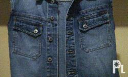 Jag Denim Jacket Sleeveless. It can be paired with any