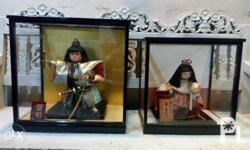 Selling my 2 Japanese Display Kabuki with Glass