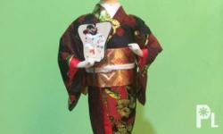 Japanese Doll with Fan 12 inches tall With box Meet up