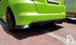 jazz ge js racing rear diffuser 5,000 flat black for