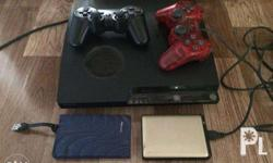 JB ps3 slim with 3 ext. Hdd lot of games