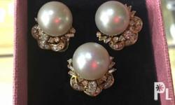 Southsea pearls with diamonds
