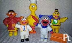 Sesame Street at Work With Clip-on costumes. -In used