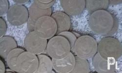 This is my friends 1 peso jose rizal coins and some