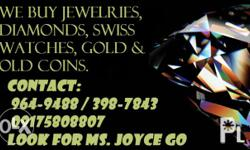 We Buy Jewelries, Diamonds, Swiss watches, Old coins