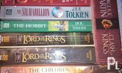 Titles: -The hobbit (side lining see pic) -Fellowship