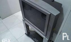 Authentic JVC television tv with stand for sale. 5000