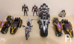 Item's Sold As Is Kamen rider figure and vehicle = has